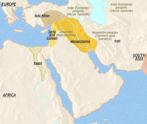 compare mesopotamia and egypt